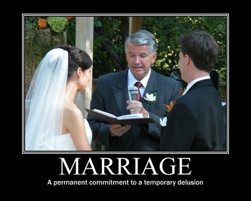 demotivational marriage image Commitment Leads to Issues