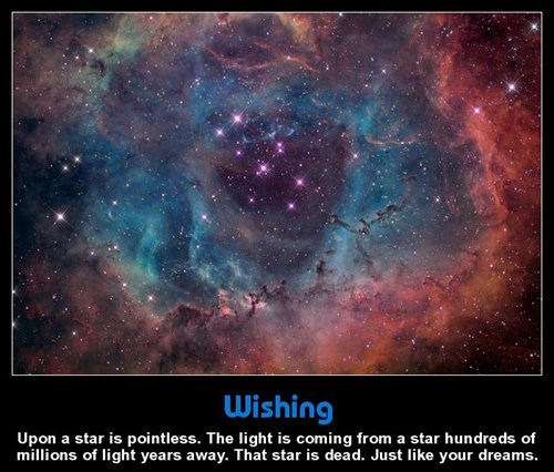 demotivational stars image When You Wish Upon a Star