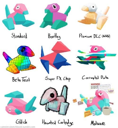 pokemon memes porygon variations