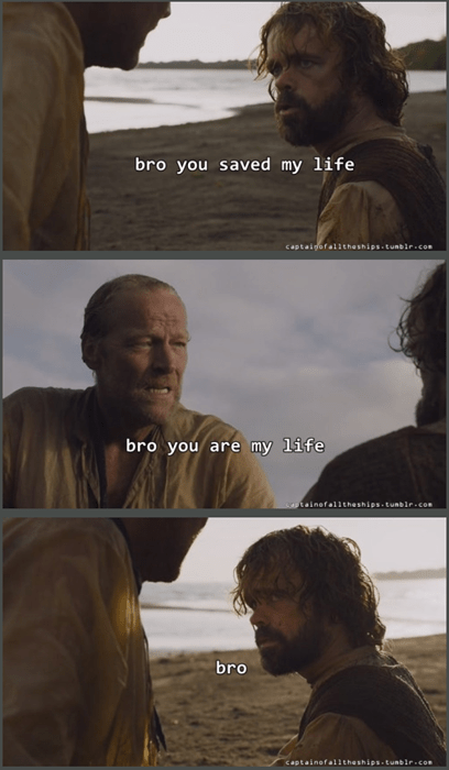Game of thrones memes season 5 Jorah and tyrion are g