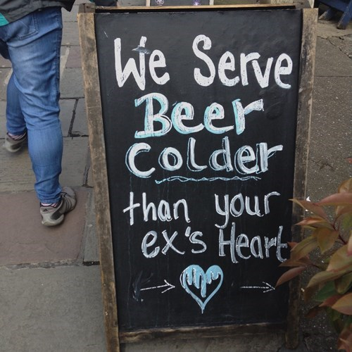 dating beer sign Brrrrrr