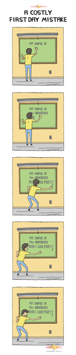 funny-web-comics-a-costly-first-day-mistake