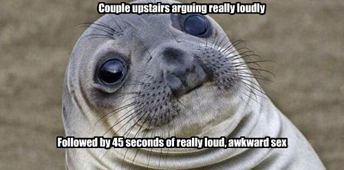 neighbors awkward moment seal - 8493257216