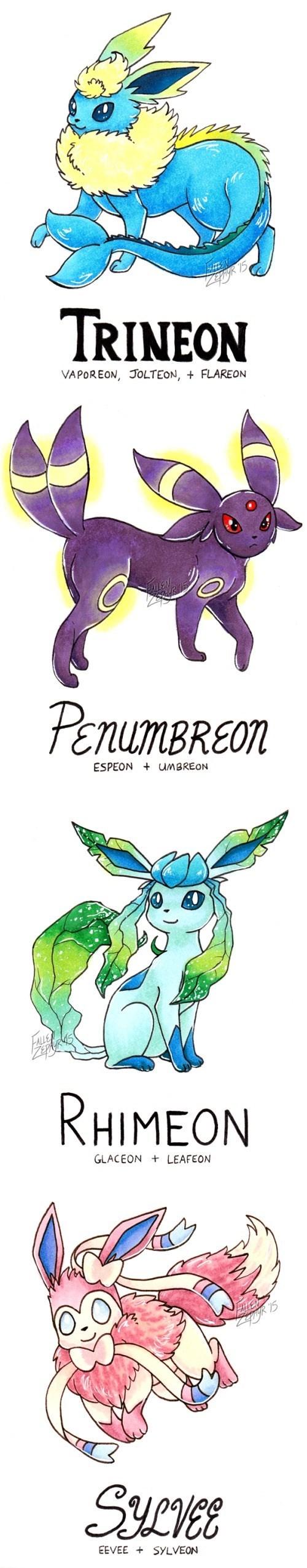 pokemon memes eeveelution fusions