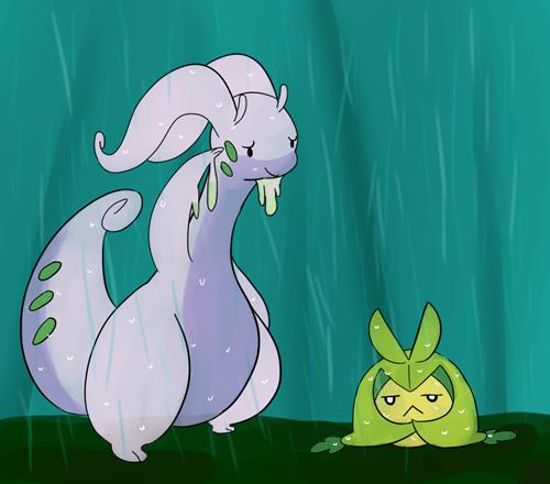 pokemon memes goodra swadloon rain