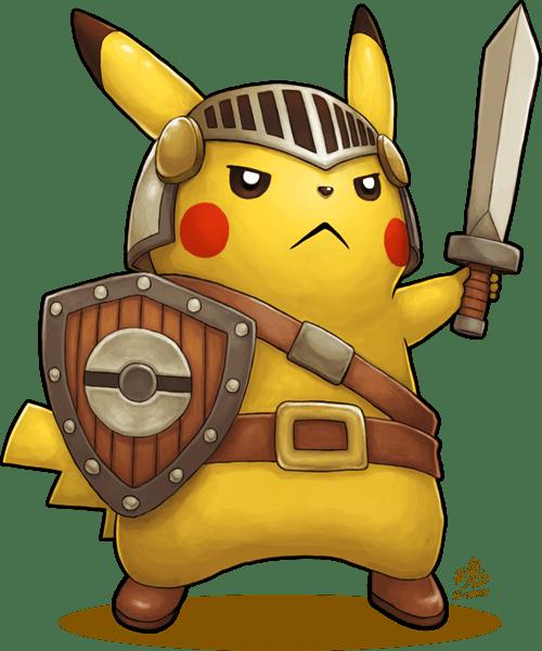 pokemon memes pikachu knight fan art