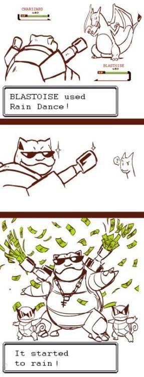 pokemon memes blastoise make rain