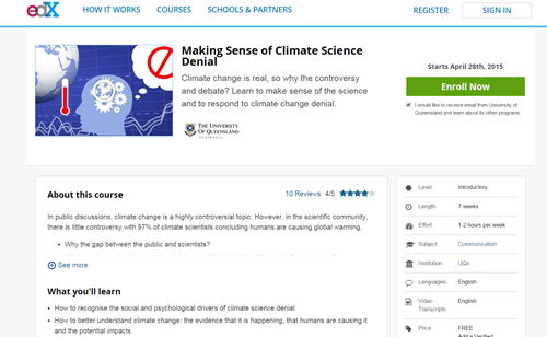 The concept of denying science is so absurd there's a Univ. of Queensland [Australia] class on it!