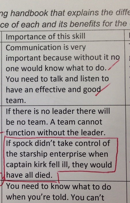 school star trek test There's Always a Relevant Star Trek Example