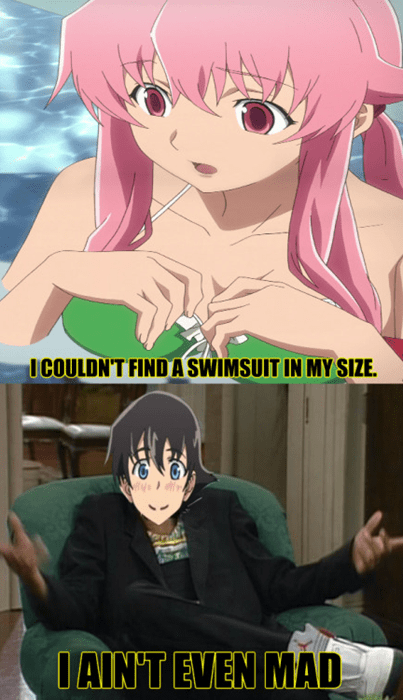 anime memes not mad swimsuit size