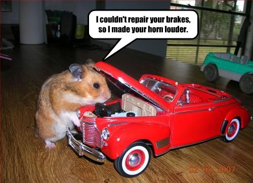car hamster mechanic - 8494860544