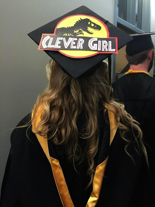 graduation caps image Maybe She Can Get a Job at Jurassic World