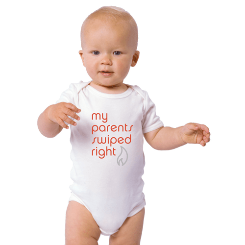 parenting funny clothes The Tinder Baby Onsesie