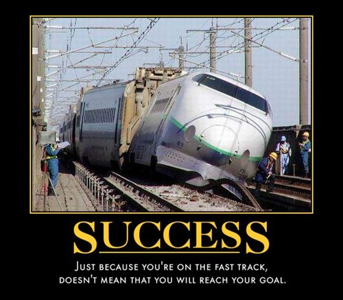 demotivational career success You May or May Not Be Going Places