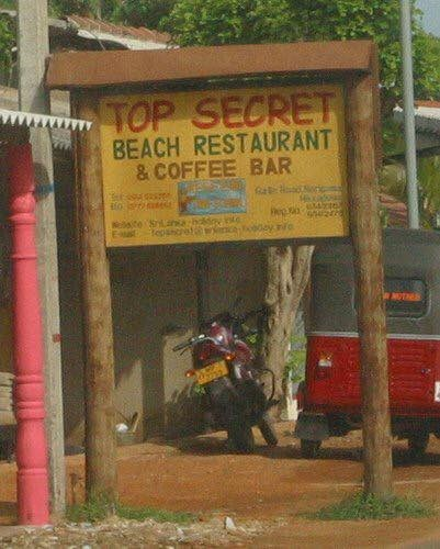 funny restaurant sign Don't Tell Anyone