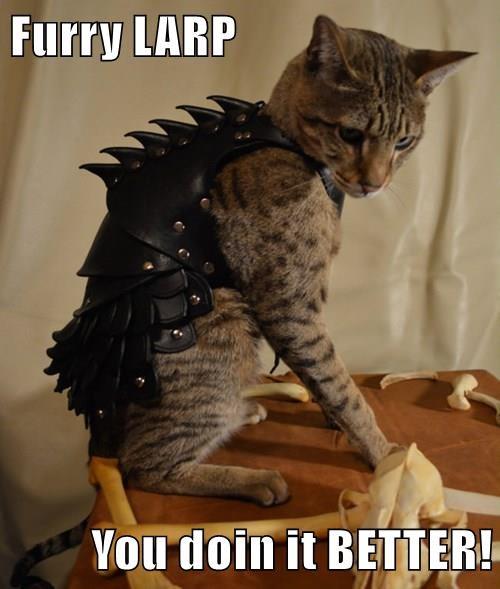 animals costume Larp armor Cats - 8495764992