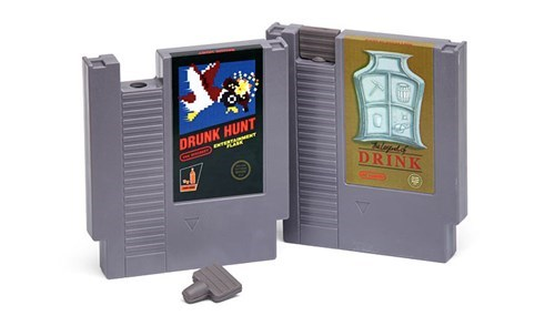 drinking cool accessories puns Punny Retro Game Flasks