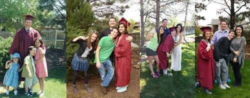 school graduation image Siblings Take the Same Photo Each Time One Graduates