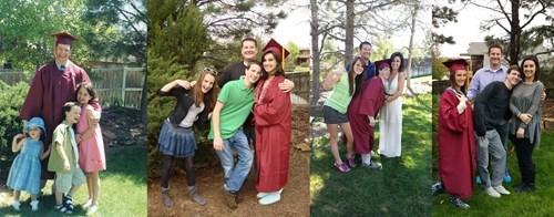 school graduation image Siblings Take the Same Photo Each Time One Graduates