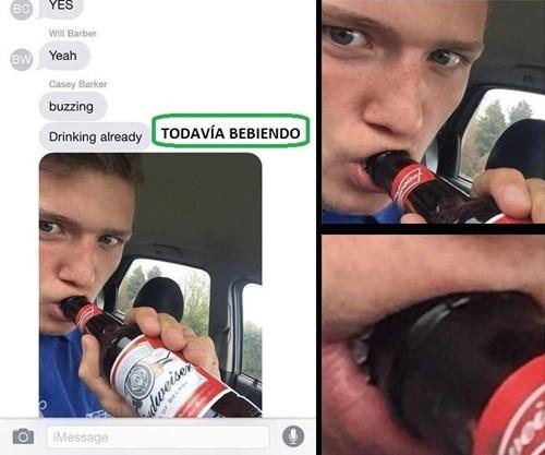 todavia bebiendo