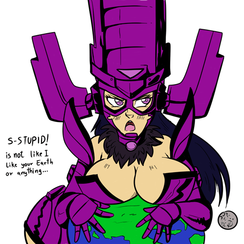 tsundere,galactus,Fan Art