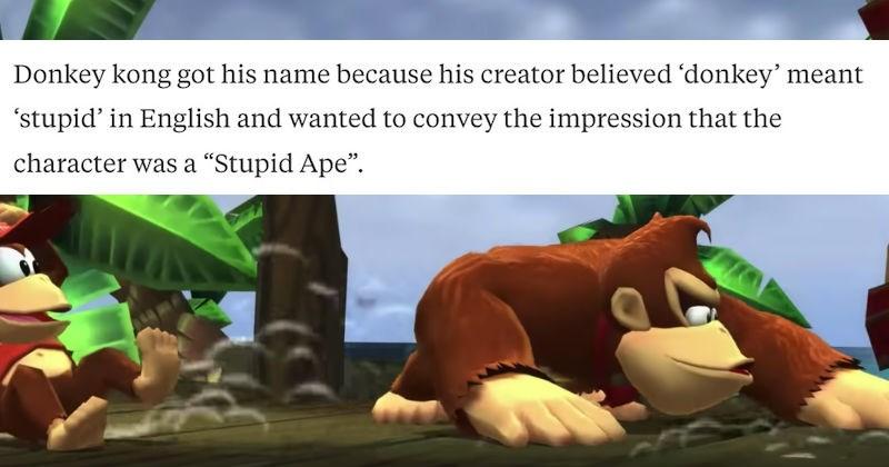 weird but true trivia fact about donkey kong