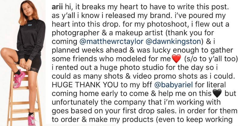 influencer on Instagram can't sell products