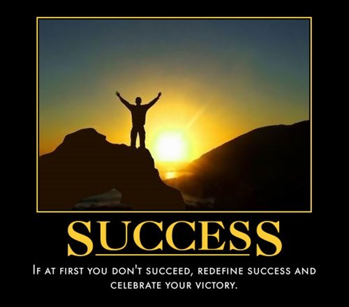 demotivational success image You Did It!