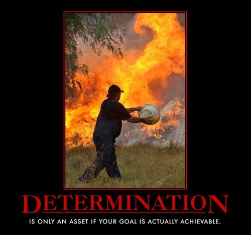 demotivational determination image Hang In There! ..Actually You Probably Shouldn't