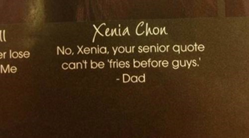 school yearbook quote I'm With Xenia on This One