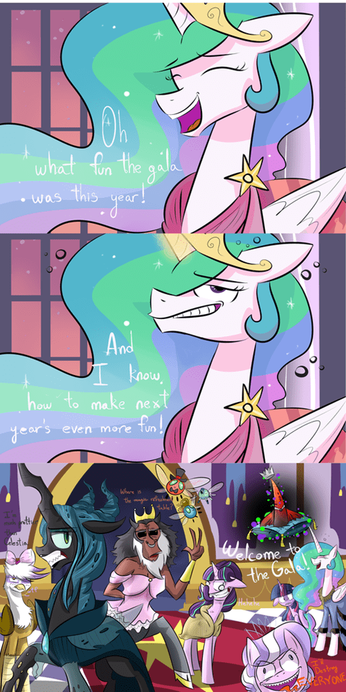 villains,Party,princess celestia