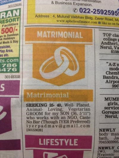 parenting dating lgbtq A Mom may have Just Placed the First Gay Dating Ad in India for her Son