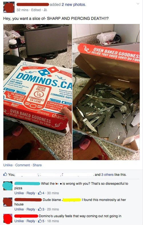 pizza dominos oh god why food failbook - 8498361600