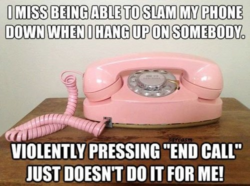 phones end call nostalgia - 8498500096