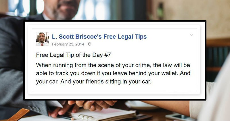 lawyer on facebook giving legal advice