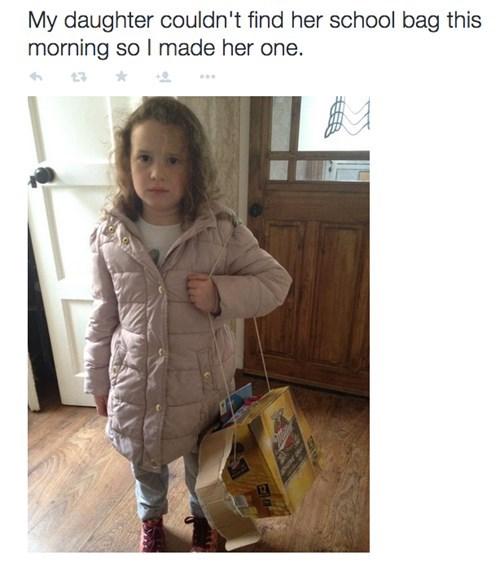 school backpack image Classy School Bag Dad!