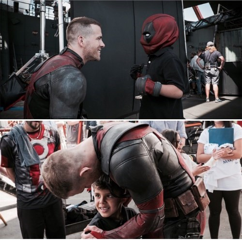 Ryan Reynolds and Deadpool Make-A-Wish