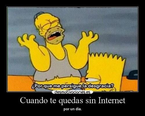 te quedas sin internet