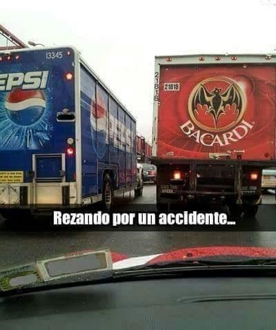 rezando por accidente