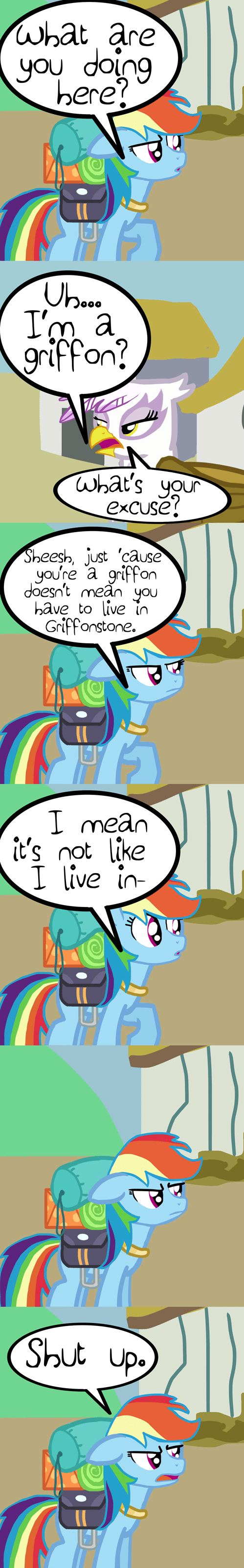 ponyville gilda rainbow dash web comics - 8499371008
