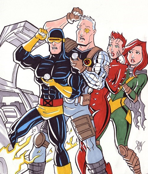 back to the future,x men,cyclops,mash up,time travel