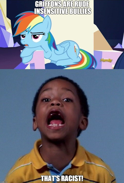 bullies,griffon,racist,rainbow dash