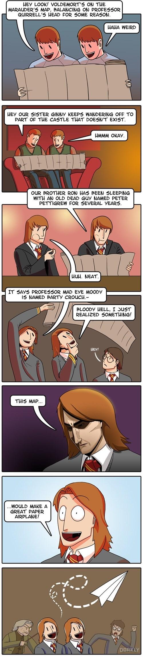 harry potter memes weasley twins marauders map web comic