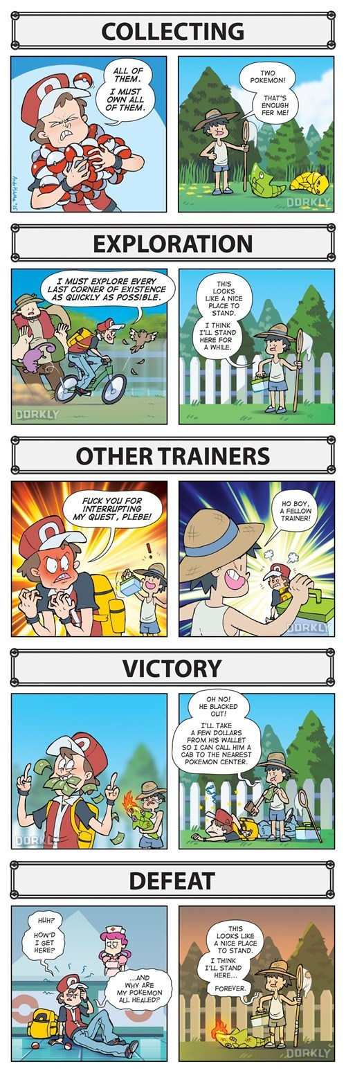 pokemon memes player vs npc playstyle