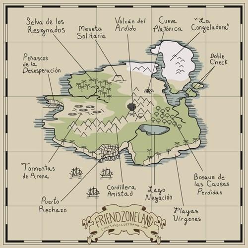 mapa de la friendzone