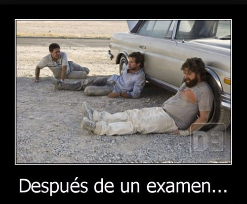 despues de un examen