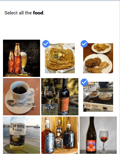 drinking food captcha So.. Just Select Everything Then?