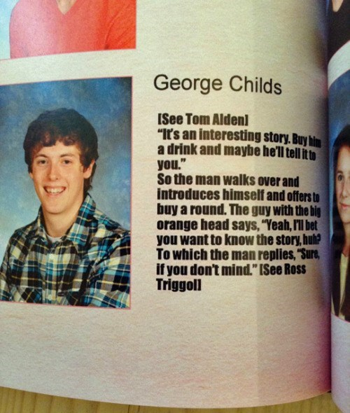 funny senior yearbook