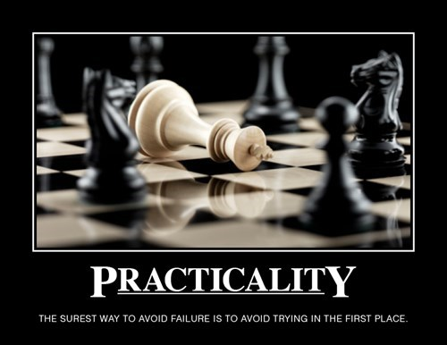 demotivational image practicality Quitting is for Losers