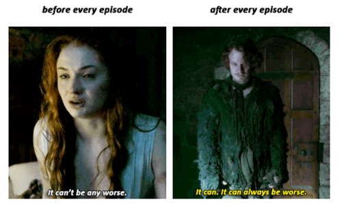 Game of thrones memes season 5 sansa and theon explain what it's like to watch.